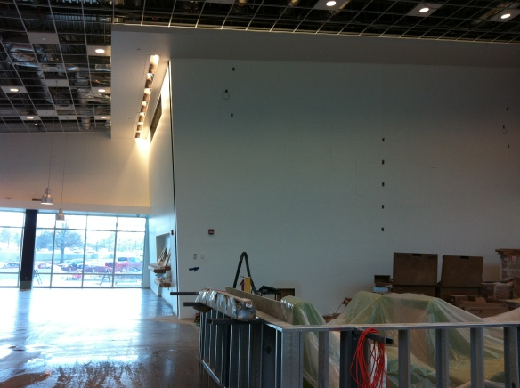 The multimedia wall here will feature a 12'x21' screen where video game competitions, concerts and other broadcasts can be viewed. We have some amazingly cool furniture coming soon for this project–cannot wait to see it installed.