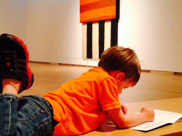 My favorite photo of the day. I promise we didn't ask him to lay down and sketch. In every gallery.
